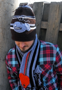 crochet men's hat and scarf